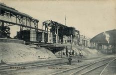 KNA006020545 De bouw van het 4de stationsgebouw, 1906