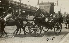 KNA006020589 Koninklijk bezoek aan Haarlem. Vertrek des n.m. aan het station, 28-08-1925