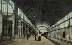 KNA006020738 Perron van het nieuwe (4de) spoorwegstation, 1914
