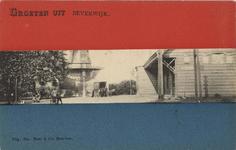 KNA006021501 Het station, met links de molen De Hoop van molenaar Smit., 1905