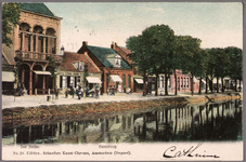 NL-HlmNHA_162_2519_1056 De Kanaalweg met links Café Central., 1895-1904
