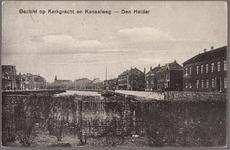 NL-HlmNHA_162_2519_1098 Gezicht op Kerkgracht en Kanaalweg vanaf het Westplein, nu Helden der Zeeplein. Oriëntatie: ...