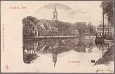 NL-HlmNHA_162_2519_1101 Het einde van de Kerkgracht met het Westplein, ziende naar het zuidwesten., 1900-1905