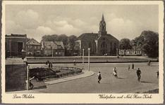 NL-HlmNHA_162_2519_1389 Gezicht op het Westplein met de Petrus en Pauluskerk., 1930-1935