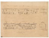 NL-HlmNHA-52000237 Ontwerp voor 7 woningen in het Ripperdapark. Aanzichten voor- en achtergevels. , 1874-01