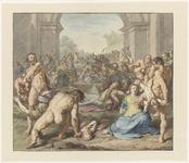 NL-HlmNHA_53004791 De kindermoord te Bethlehem [Matheus 2:16-18].Kopie van het schilderij van Cornelisz. van Haarlem ...