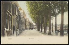 NL-HlmNHA_162_2629_0177 Hoogstraat met rechts een rij bomen., 1900-1920